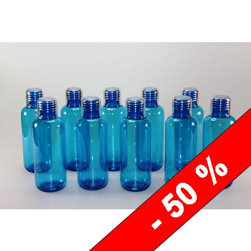 pet flaschen blau transparent spender dispender 500ml set
